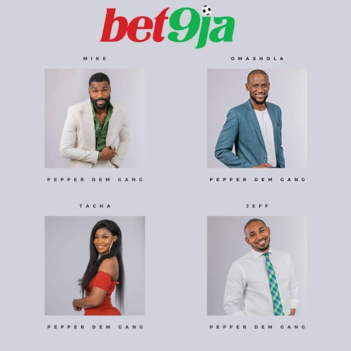 Here Are The Four #Bet9jaBBN Housemates Up For Eviction This Week
