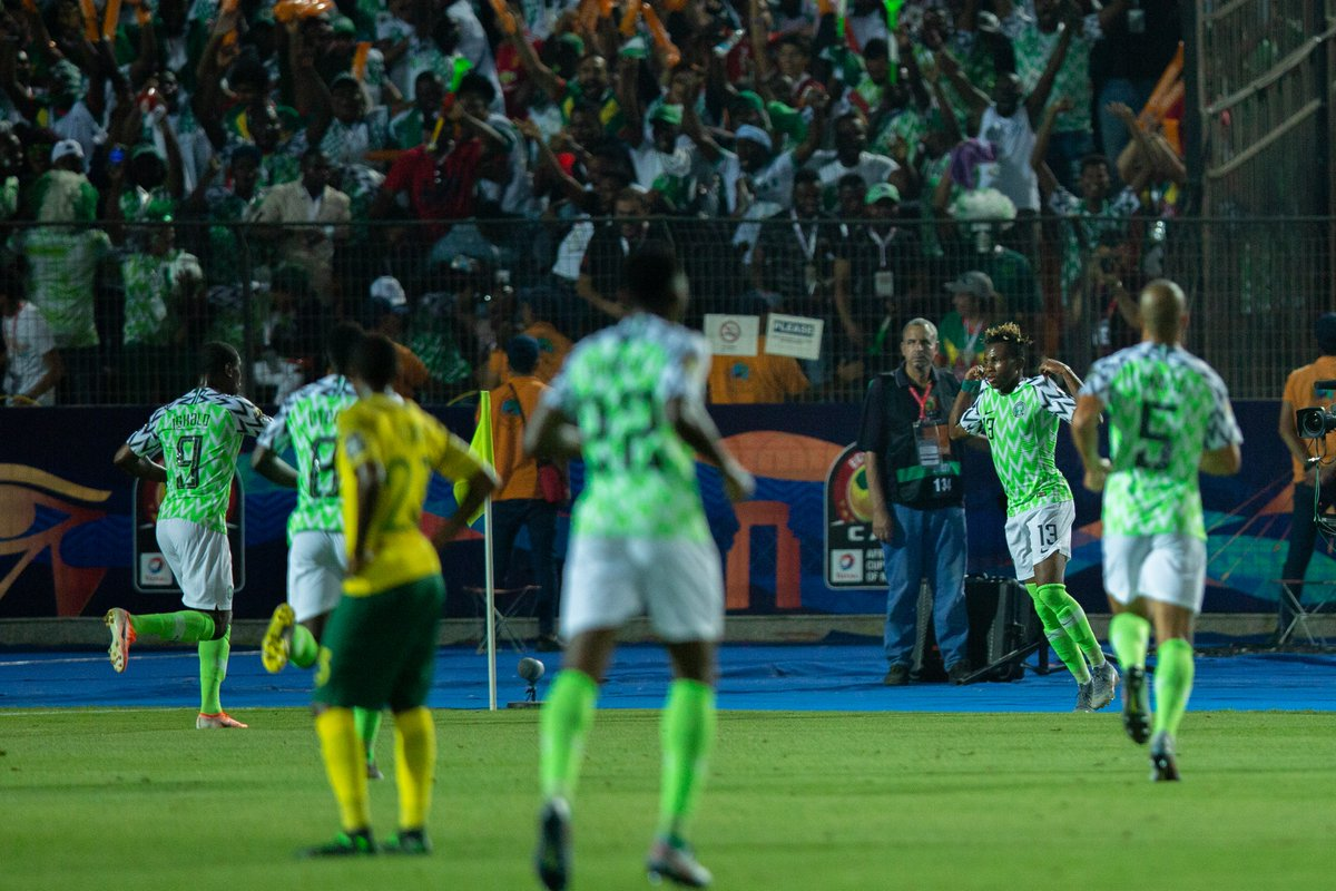 #AFCON 2019: Super Eagles Grab Late Winner Against South Africa To reach Semi-Finals