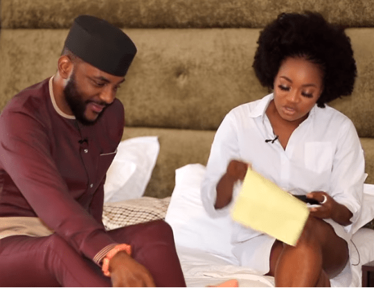 #Bet9jaBBN: Tacha's Love Letter Revealed By Thelma, It Was Written To Nelson {Video}