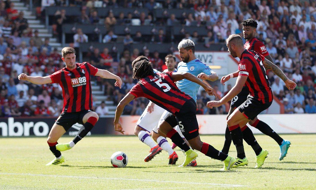 #EPL: Aguero Strikes Twice As City Win At Bournemouth