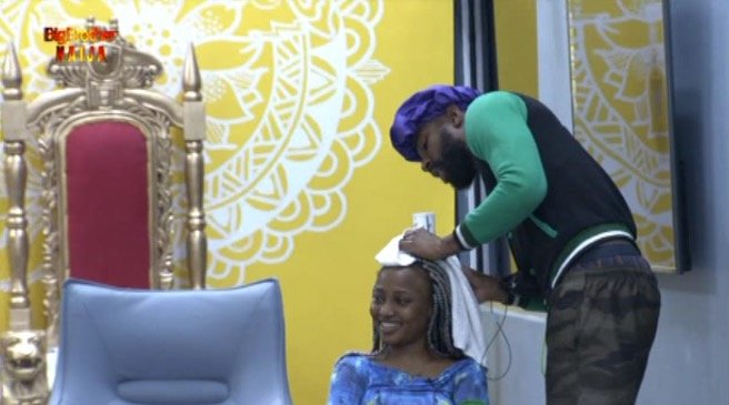 #Bet9jaBBN: Housemates Give Each Other Various Treats In Biggie's Task Of 'An Act Of Kindness'