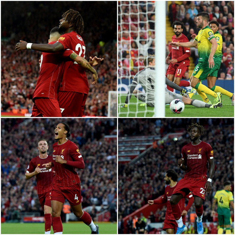 Liverpool Start EPL Campaign With Convincing Norwich Win