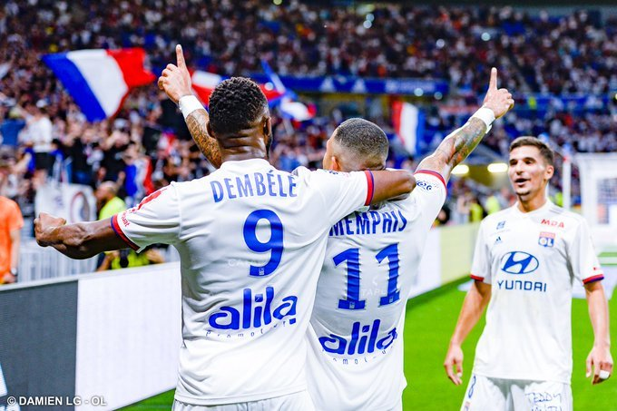 #Ligue 1: Depay, Dembele At The Double As Lyon Hammer Angers
