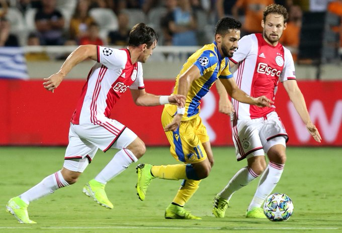UCL: Ajax Held At APOEL, Away Wins For Bruges And Slavia