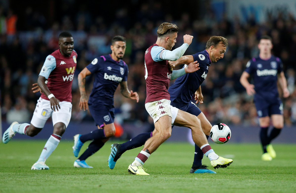 #EPL:Ten-Man Hammers Hold On For Point At Villa