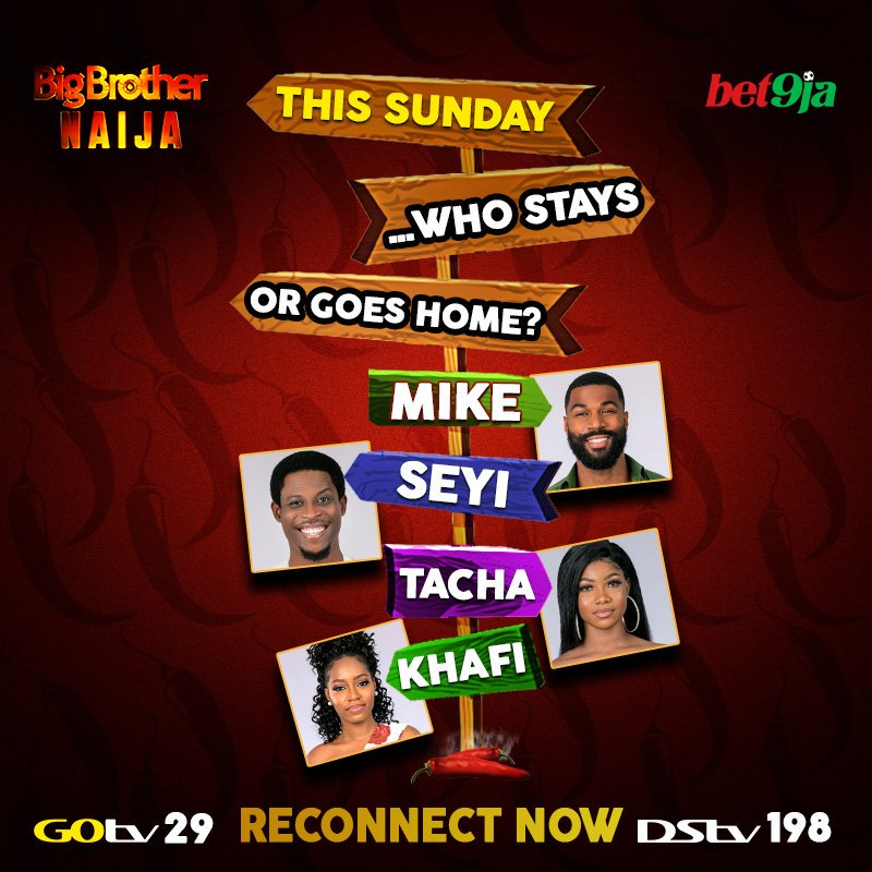 Which Of The #Bet9jaBBN Housemates Would We Say Goodbye To?