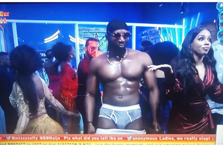 #Bet9jaBBN: Tuoyo Strips Down At Final Saturday Night Party {Video}
