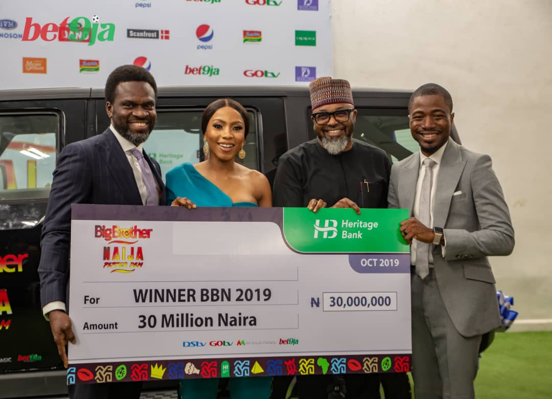 #Bet9jaBBN: Mercy Receives Her #30 Million & Other Prizes {Photos}