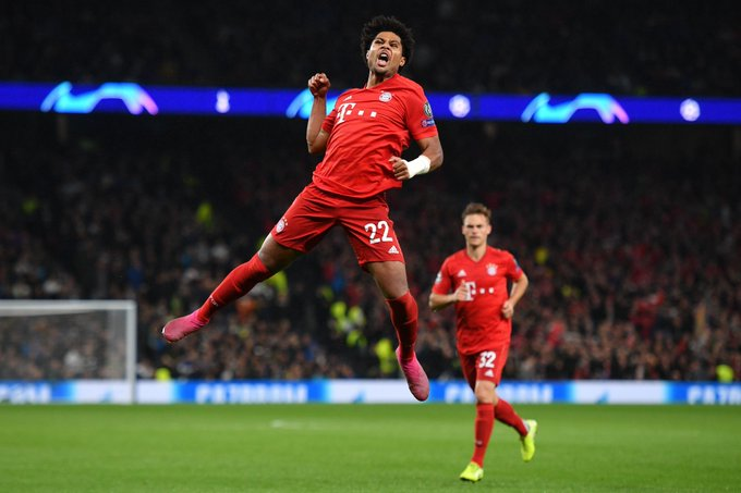 #UCL: Gnabry Hits Four As Bayern Trounce Spurs 7-2